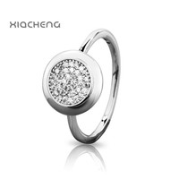 New Arrival 100% 925 Sterling Silver Rings with Full Crystal Wedding & Party European Rings Fit Women Pandora Jewelry R38