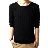 Mens Comfortable Pullover Sweater