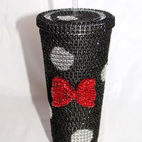 Minnie Mouse Inspired Crystal Cold Cup