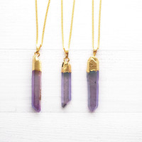 Iris Angel Aura  Necklace ➸ Gold Dipped