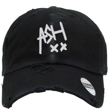 ash Embroidered Distressed Baseball