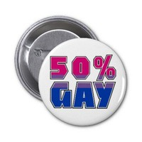 50% Gay Buttons from Zazzle.com