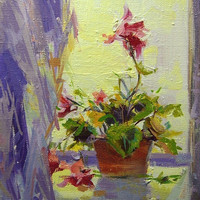 Colorful Flowers Art - Small Flowers Painting by Yuri Pysar