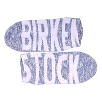 Women's Slub Logo Sneaker Socks in Deep Ultramarine by Birkenstock