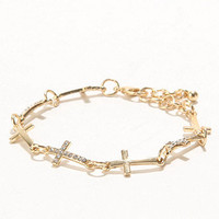 With Love From CA Multi Cross Link Bracelet at PacSun.com