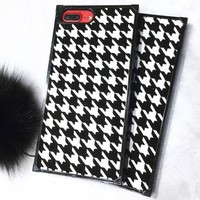 Houndstooth The iPhone7/8plus iPhone6 covers the soft shell x.