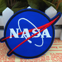 NASA Patch Space Center Uniform Clothing Polo Jacket Shirt Embroidered Tactical3D Badge Patch Resident Sewing On Tactical Patch