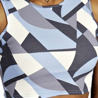 Taylor Pastel Geo Strappy Crop Top