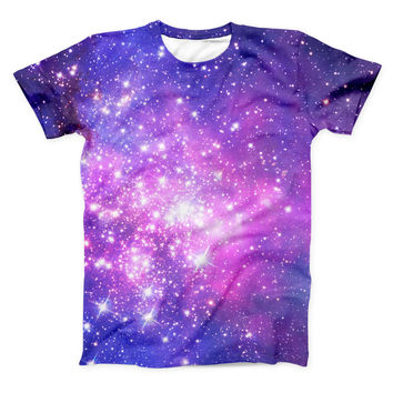 The Purple & Pink Space ink-Fuzed Unisex All Over Full-Printed Fitted Tee Shirt