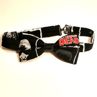 Walking Dead Bow Tie • Pre-Tied Bow Tie • Zombie Bow Tie • Geekery Mens Fashion • Horror Film Fashion • The Walking Dead • Gifts For Guys