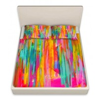 Jackie Phillips's 'Neon Double Abstract' | Designer Unique Bed Sheets
