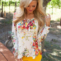 Perennial Beauty Floral Top Ivory