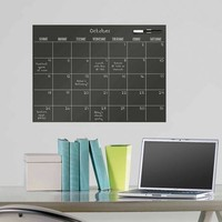 WallPops Black Dry Erase Monthly Calendar Decal - Walmart.com