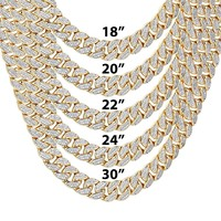 "9mm Closed Miami Cuban Links Icy 18-30"" Chain"