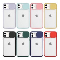 Slide Camera Lens Protection Phone Cases For iPhone 11 Pro Max XR X XS Max 6 6S 7 8 Plus SE 2020 Case TPU Frame Matte PC Cover