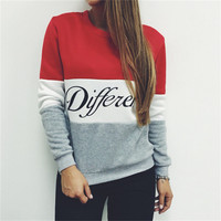 Women Casual Hoody Pullovers O-Neck Sweatshirts Hoodies Tops