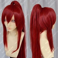 High Quality Anime Fairy Tail Erza Scarlet 100cm Long Ponytail Cosplay Wig E064 Macchar Cosplay Catalogue