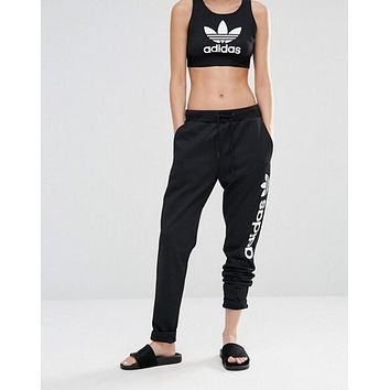 adidas Originals Mesh Oversized Logo Sweat Pants