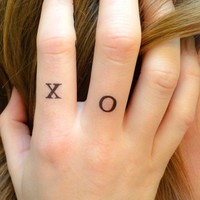 4-pack of X O Temporary Tattoos