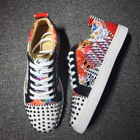 Cl Christian Louboutin Low Style #2001 Sneakers Fashion Shoes-1