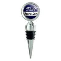 Jeramiah Hello My Name Is Wine Bottle Stopper