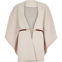 Beige belted cape - capes / ponchos - accessories - women