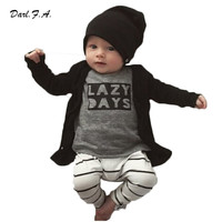 2016 Spring Baby Boy Clothes Long Sleeve T Shirts + Pants Sets Clothing For Newborns Lettler Printed Baby Girl Clothes Outfits