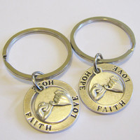 Summer Sale Save15% 2 Pinky Promise Hope Love Faith Keychains Best Friends Sisters Couples