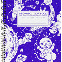 Kittens in Space   Coilbound Decomposiiton Book   Ruled Pages