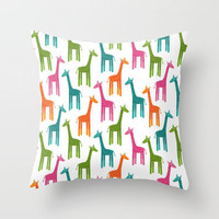 Giraffes Throw Pillow by ts55 | Society6