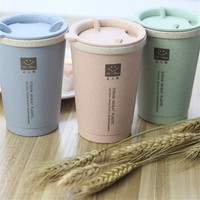Wheat Straw Sports Water Bottle -  Biodegradable 300ML Semi Disposable Cup 300ml