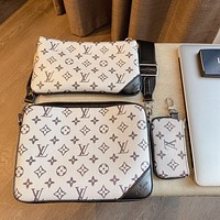 LV MESSENGER 2020 new three-in-one messenger bag three-piece set