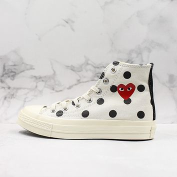CDG Play x Converse All Star Chuck Taylor 1970s Hi-Top Sneakers