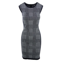 Vince Camuto Womens Houndstooth Knit Tank Dress