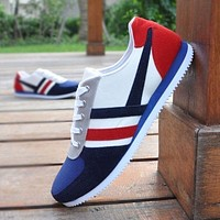 Fashion Men's Lace Up Comfortable Sports Loafers Sneakers