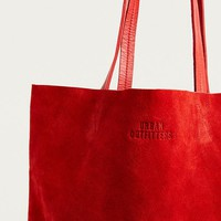 UO Red Suede Tote Bag | Urban Outfitters