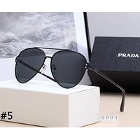 PRADA 2019 new personality fashion big frame polarized sunglasses #5