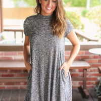 Feeling Good Dress - Charcoal