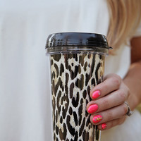 Leopard Print Travel Coffee Mug
