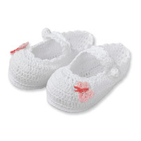 Blessing Butterfly Baby Crochet Booties