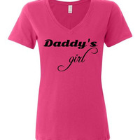 Daddy's Girl Featherweight V-Neck Tee Perfect for Father's Day