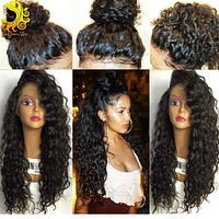 Brazilian Full Lace Curly Human Hair Wigs