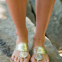 A Day In The Sun Sandals, Gold