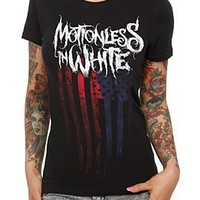 Motionless In White Flag Girls T-Shirt - 145670
