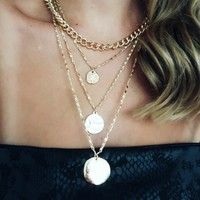 Chained Up Necklace: Gold