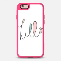 iPhone Case With Interchangeable Back Plates by Casetify | Hello! Design by Melody Joy Munn (iPhone 6, 6s, 6 Plus, 6s Plus, 7)