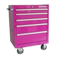 The Original Pink Box PB2605R 26-Inch 5-Drawer Rolling Cabinet, Pink