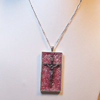Cross Among Tears of Blood Pendant by hmpietz on Etsy