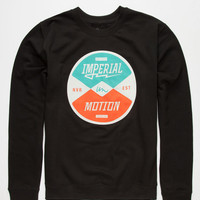 Imperial Motion Directions Mens Sweatshirt Black  In Sizes