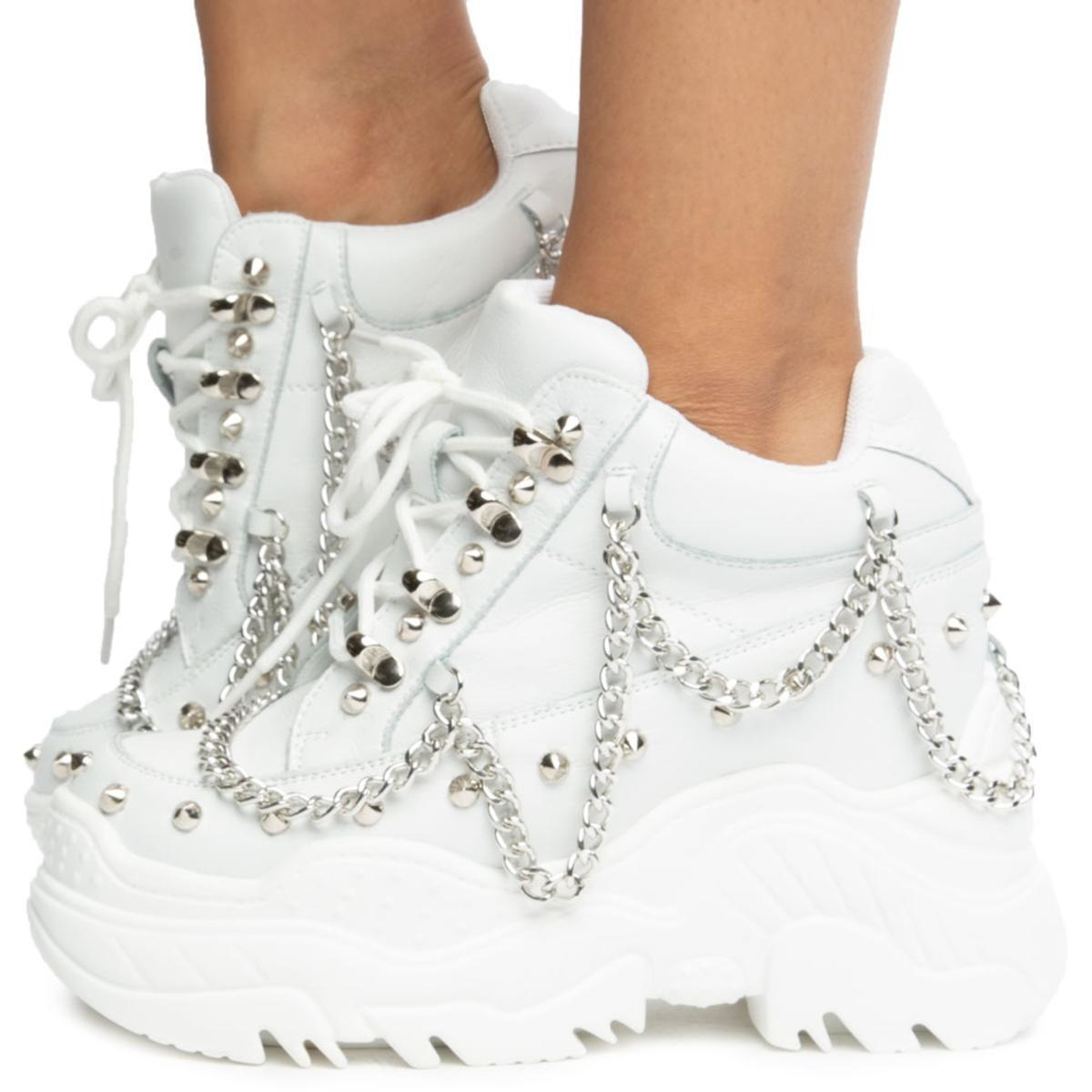 Image of Space Candy Platform Sneakers with Studs